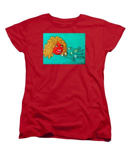 The Race. Women's T-Shirt (Standard Cut) by Don Pedro De Gracia