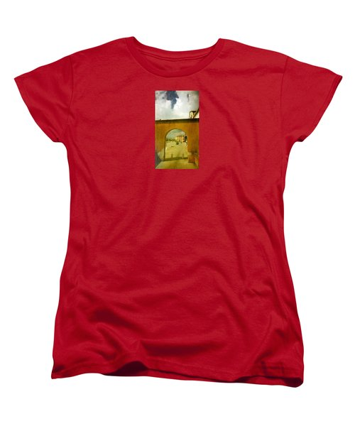 Women's T-Shirt (Standard Cut) featuring the photograph The Red Archway by Anne Kotan