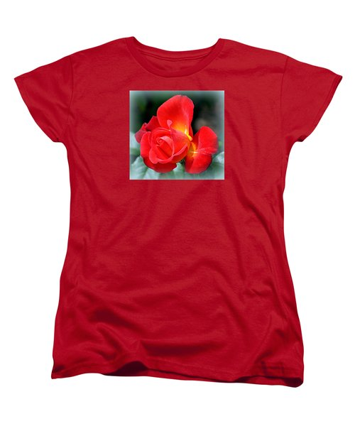 The Red Rose Women's T-Shirt (Standard Cut) by AJ  Schibig