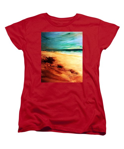 Women's T-Shirt (Standard Cut) featuring the painting The Remaining Pine by Winsome Gunning