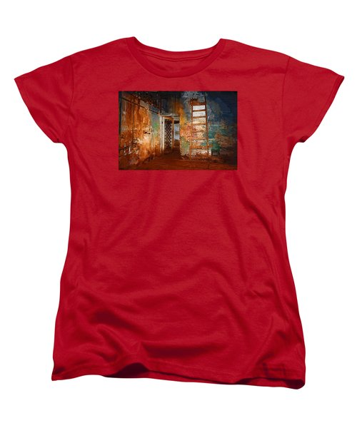 Women's T-Shirt (Standard Cut) featuring the painting The Renovation by Holly Ethan