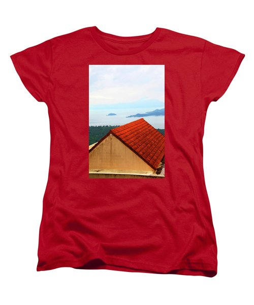 The Roof Be Told Women's T-Shirt (Standard Cut) by Jez C Self