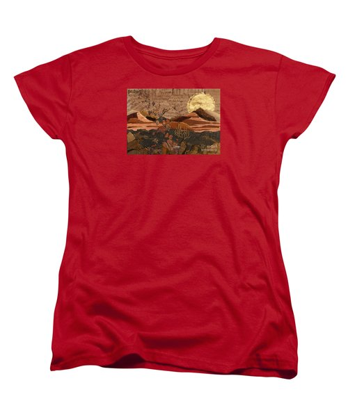 Women's T-Shirt (Standard Cut) featuring the painting The Scream Of A Butterfly by Stanza Widen