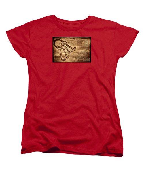 The Sheriff Jail Keys Women's T-Shirt (Standard Cut) by American West Legend By Olivier Le Queinec
