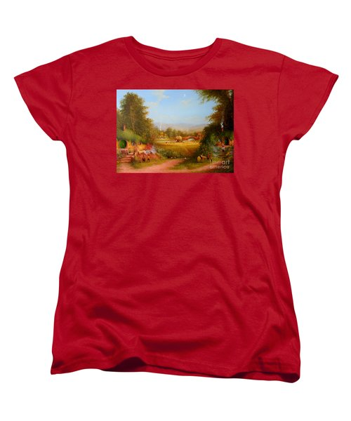 The Shire. Women's T-Shirt (Standard Cut) by Joe  Gilronan