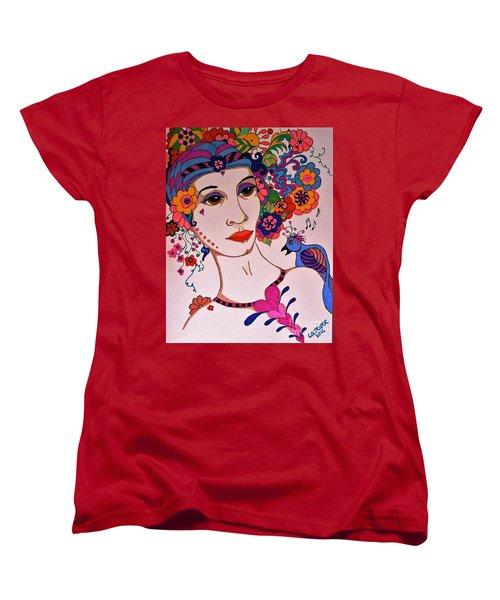 The Songbird Women's T-Shirt (Standard Cut) by Alison Caltrider