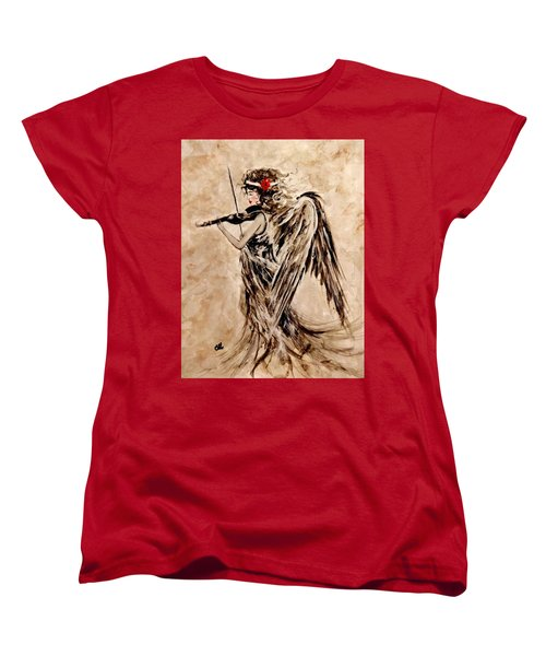 The Sound Of An Angel. Women's T-Shirt (Standard Cut) by Cristina Mihailescu