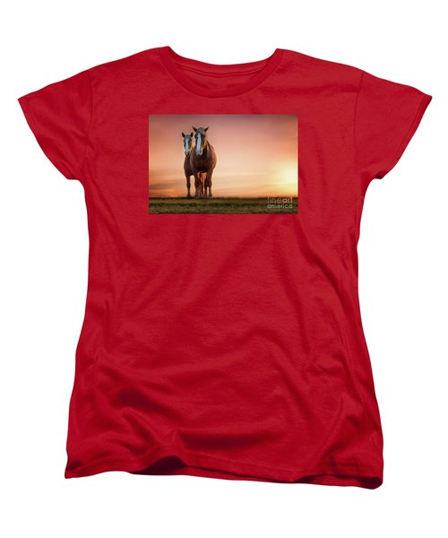 The Stallion And The Mare Women's T-Shirt (Standard Cut) by Tamyra Ayles