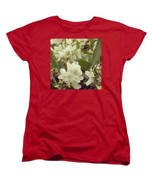 The Summer Smells Like A Mock Orange Women's T-Shirt (Standard Cut) by Arletta Cwalina