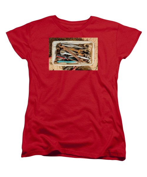 Women's T-Shirt (Standard Cut) featuring the photograph The Toolbox by Christopher Holmes