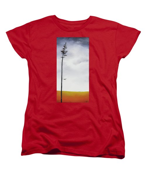 The Trees Are So Tall Here  II     Women's T-Shirt (Standard Cut) by Carolyn Doe