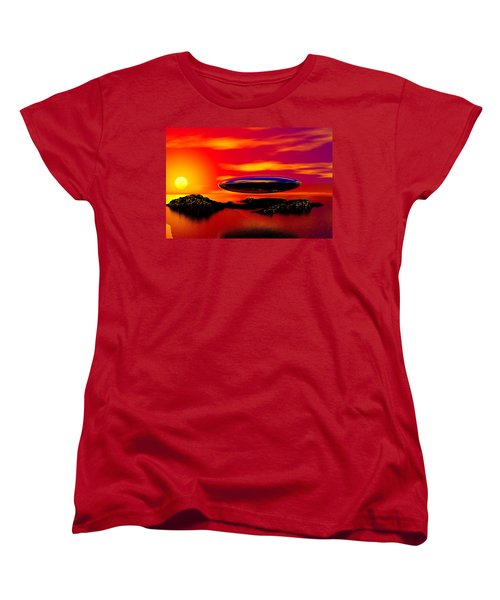 The Visitor Women's T-Shirt (Standard Cut) by David Lane