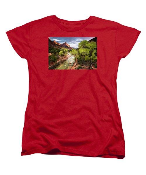 The Watchman Women's T-Shirt (Standard Cut) by Eduard Moldoveanu