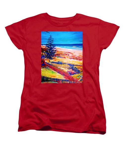Women's T-Shirt (Standard Cut) featuring the painting The Winter Dunes by Winsome Gunning