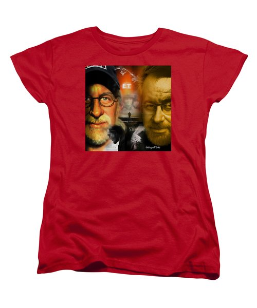 The World Of Steven Spielberg Women's T-Shirt (Standard Cut) by Ted Azriel