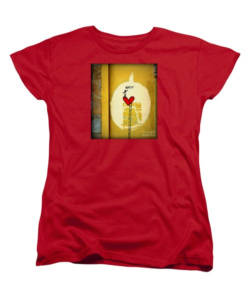 Women's T-Shirt (Standard Cut) featuring the photograph The Writing On The Wall by Tanya Searcy