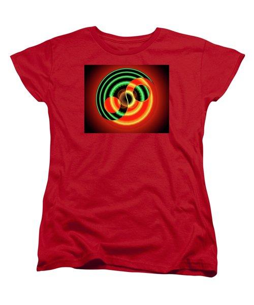 The Yin And The Yang Women's T-Shirt (Standard Cut) by Mario Carini