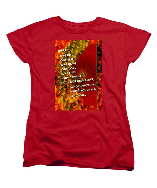 There Is Only One Women's T-Shirt (Standard Cut) by Chuck Mountain