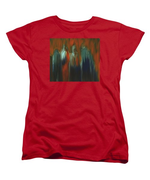 Women's T-Shirt (Standard Cut) featuring the painting There Were Four by Jim Vance