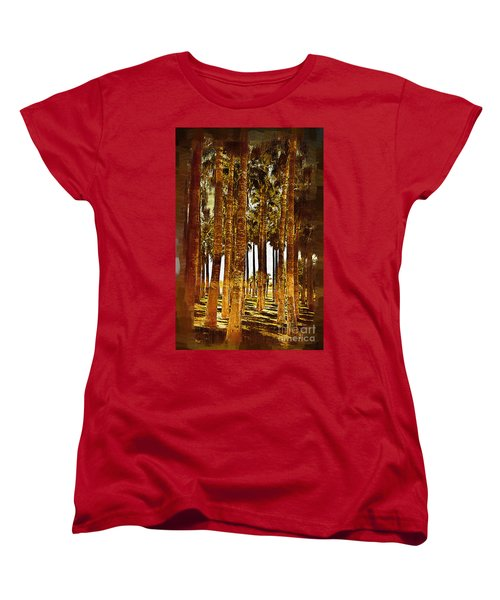 Thick Palm Trees Women's T-Shirt (Standard Cut) by Kirt Tisdale