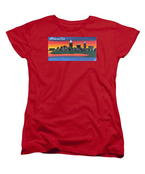 This Is Cle Women's T-Shirt (Standard Cut) by Cyrionna The Cyerial Artist