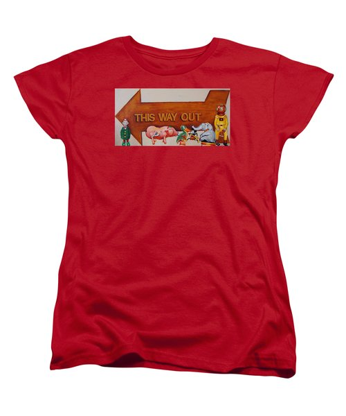 This Way Out Women's T-Shirt (Standard Cut) by Jean Cormier
