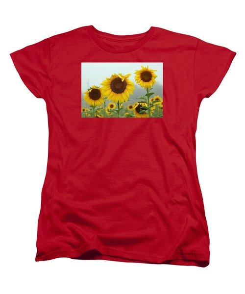 Three Amigos In A Field Women's T-Shirt (Standard Cut) by Karen McKenzie McAdoo