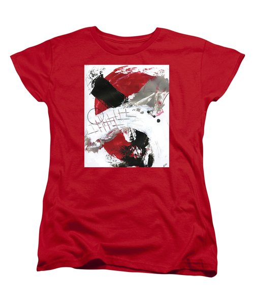 Women's T-Shirt (Standard Cut) featuring the painting Three Color Palette Red 2 by Michal Mitak Mahgerefteh