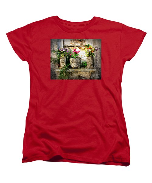 Three Vases Women's T-Shirt (Standard Cut) by Perry Webster