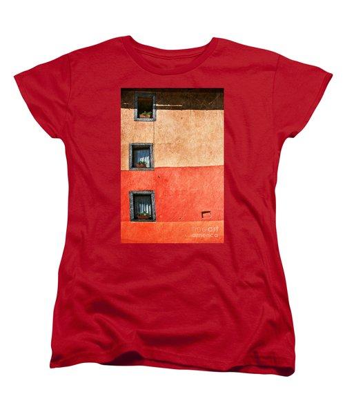 Three Vertical Windows Women's T-Shirt (Standard Cut) by Silvia Ganora