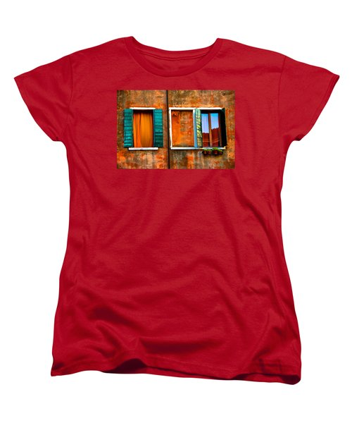 Three Windows Women's T-Shirt (Standard Cut) by Harry Spitz