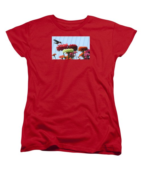 Thristy Hummer Women's T-Shirt (Standard Cut) by Jeanette Oberholtzer