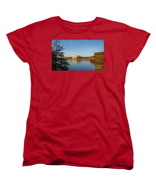 Tidal Basin And Jefferson Memorial Women's T-Shirt (Standard Cut) by Megan Cohen