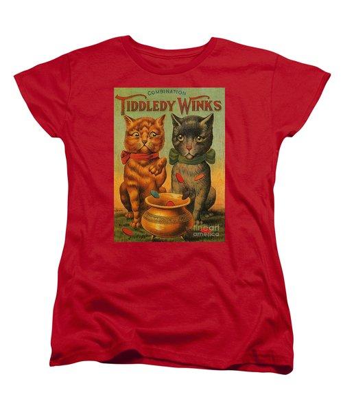 Tiddledy Winks Funny Victorian Cats Women's T-Shirt (Standard Cut) by Peter Gumaer Ogden Collection