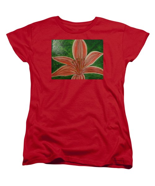 Women's T-Shirt (Standard Cut) featuring the painting Tiger Lilly by Barbara Yearty