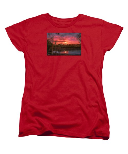 Women's T-Shirt (Standard Cut) featuring the painting Time Of Grace by Rose-Maries Pictures