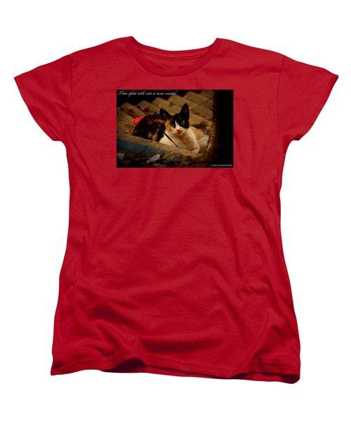 Time Spent With Cats. Women's T-Shirt (Standard Cut) by Salman Ravish