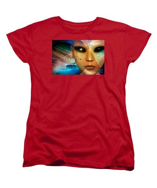 Women's T-Shirt (Standard Cut) featuring the digital art Timeless Traveller by Shadowlea Is