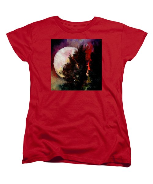 To The Moon And Back Women's T-Shirt (Standard Cut) by Michele Carter