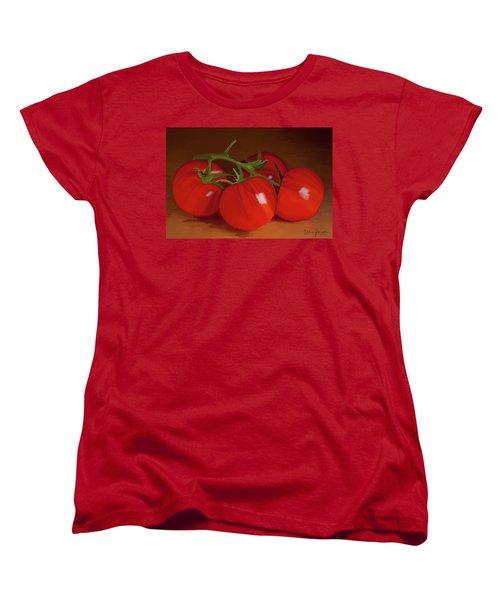 Tomatoes 01 Women's T-Shirt (Standard Cut) by Wally Hampton