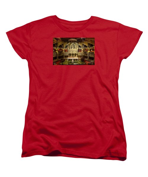Tomb Of Saint Eulalia In The Crypt Of Barcelona Cathedral Women's T-Shirt (Standard Cut) by RicardMN Photography