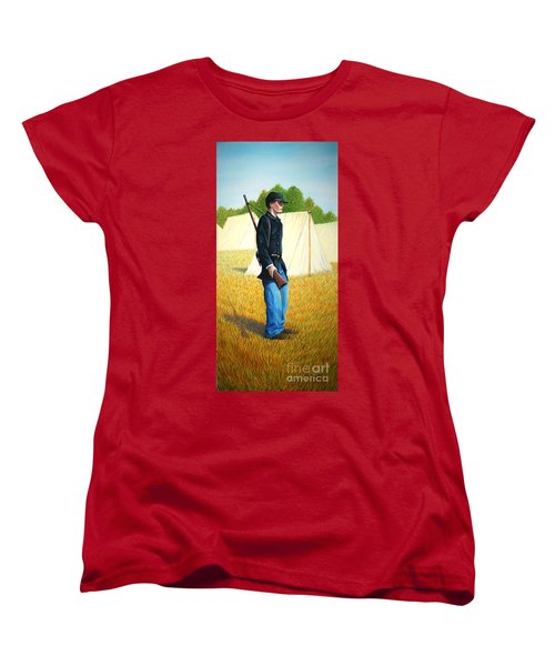 Women's T-Shirt (Standard Cut) featuring the painting Too Young by Stacy C Bottoms