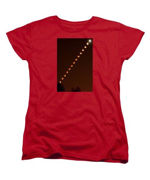 Total Lunar Eclipse September 27 2015 Women's T-Shirt (Standard Cut) by Brian Lockett