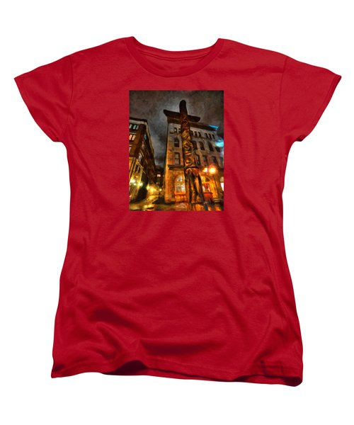 Totem In The City Women's T-Shirt (Standard Cut) by Andre Faubert
