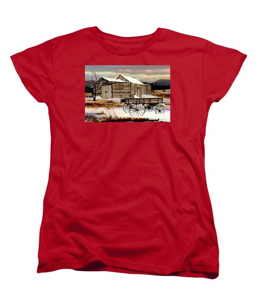 Touch Of Spring Women's T-Shirt (Standard Cut) by Ron and Ronda Chambers