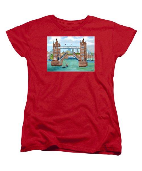 Tower Bridge London Women's T-Shirt (Standard Cut) by Magdalena Frohnsdorff