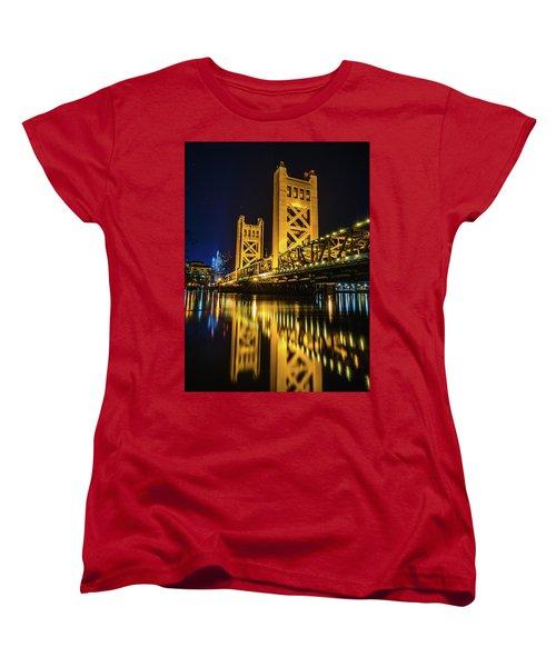 Tower Reflections Women's T-Shirt (Standard Cut) by Alpha Wanderlust