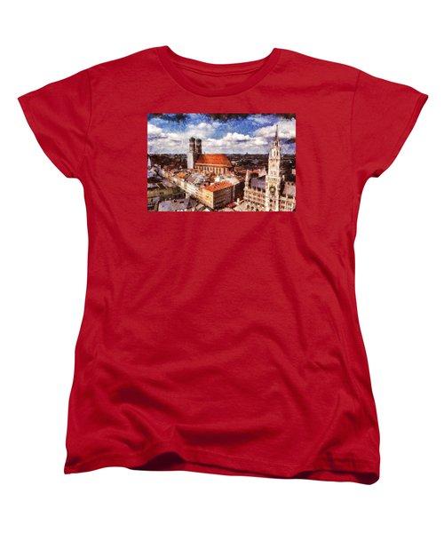 Women's T-Shirt (Standard Cut) featuring the photograph Town Hall. Munich by Sergey Simanovsky