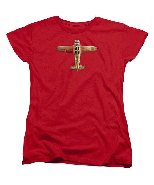 Toy Airplane Scrapper Pattern Women's T-Shirt (Standard Cut) by YoPedro