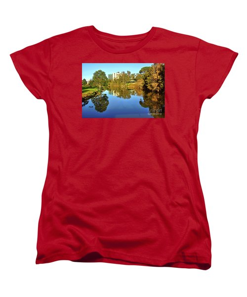 Women's T-Shirt (Standard Cut) featuring the photograph Tranquil River By Kaye Menner by Kaye Menner
